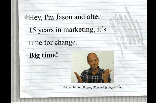 Jason McMillion Founder Upstain