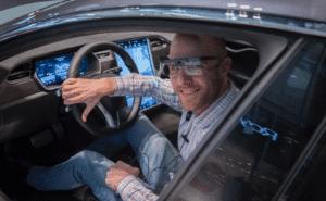 Eye tracking av instrumentpanel i Tesla