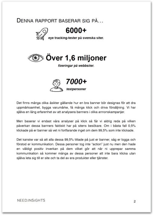 Eyetracking-rapport banners - 1,6 miljoner fixeringar