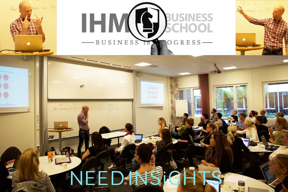 Jason McMillion från Need Insights föreläser på IHM Business School