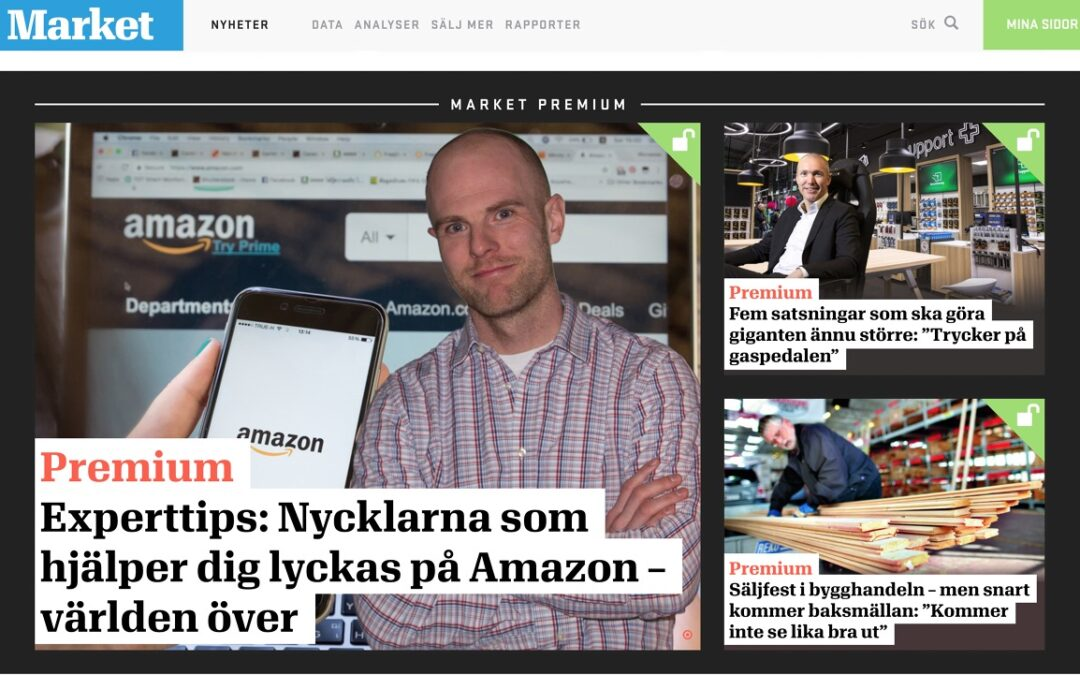 Intervju i Tidningen Market om Amazon